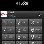 Airtel balance ussd code screenshot