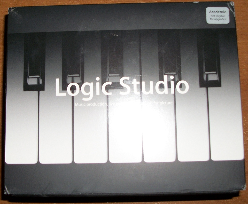 Apple Logic Studio 8 (academic version) Unboxing