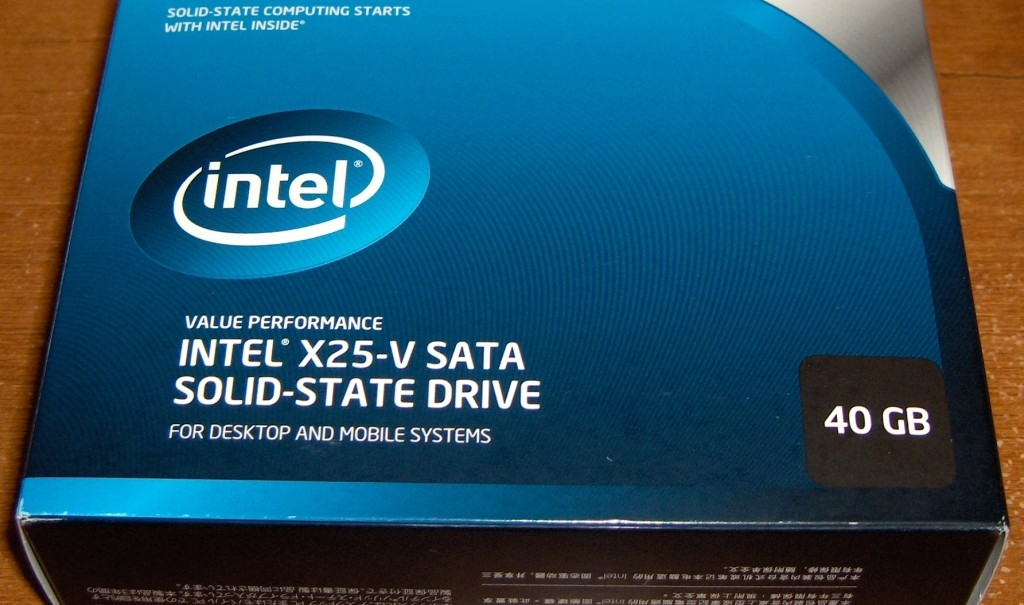 Intel X25-V SSD 40GB Unboxing
