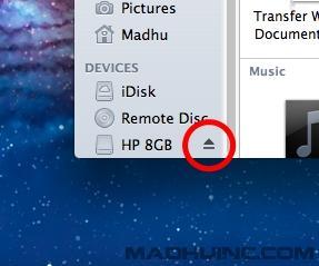 Mac OS X Eject